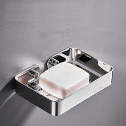 부착식 304 스테인리스 욕실 비누 받침 기본형 실버