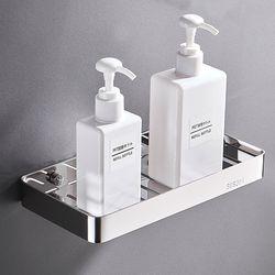 부착식 304 스테인리스 욕실 비누 받침 선반 와이드형 실버