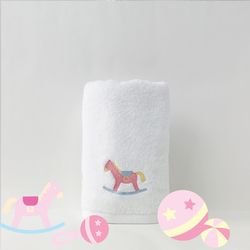PINK PONY FACE TOWEL 핑크 포니 페이스 타올