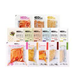 [무료배송] 허닭 슬라이스 닭가슴살 14종 10팩 골라담기