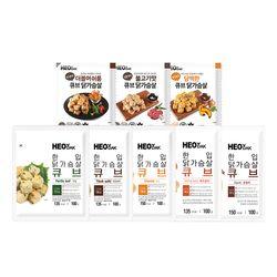 [무료배송] 허닭 닭가슴살 큐브 6종 9팩 골라담기