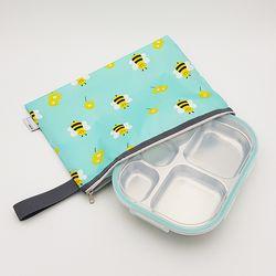 꿀벌대모험 어린이집 다이어트  도시락 식판 일자형 민트
