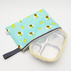 꿀벌대모험 어린이집 다이어트  도시락 식판 일자형 옐로우