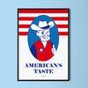 미국 맛 M 유니크 인테리어 디자인 포스터 식당 A3(중형)