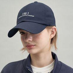 RE braces logo cap (navy)
