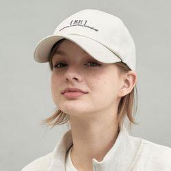 RE braces logo cap (beige)