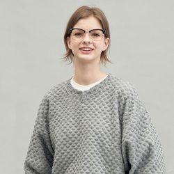 dia pattern knit (gray)