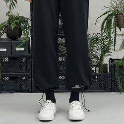 RE braces logo string pants (black)