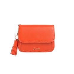 Dijon N301R Round Card Wallet Coral Orange