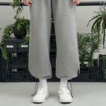 RE braces logo string pants (gray)
