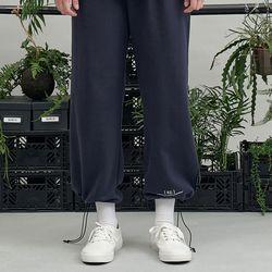 RE braces logo string pants (navy)