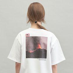 RE square campaign half tee (volcano)