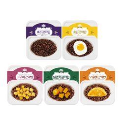 밥심 곤약밥 5종 흑미 계란 고구마 단호박 오믈렛 5팩