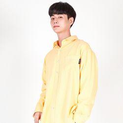 (UNISEX)Pastel Pigment Shirt(YELLOW)