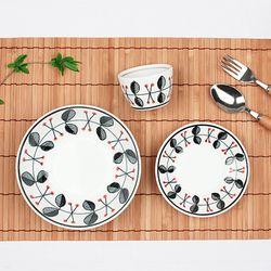 신혼부부그릇세트 수입예쁜그릇 라즈베리 접시세트 3p