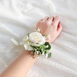 브라이덜샤워 셀프웨딩 꽃 팔찌