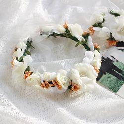 셀프웨딩 플라워 꽃화관