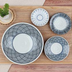 일본도자기 수입 그릇 센단토쿠사 식기세트 4P
