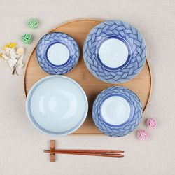 일본 가정식 1인 수입 그릇세트 아지로몬 그릇세트 4p