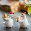EJ-YT7 황금알 닭 장식품 8p 세트