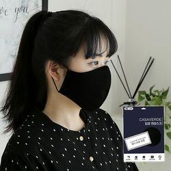 [필터 10장포함]국내생산 필터교체형 면마스크 블랙1매