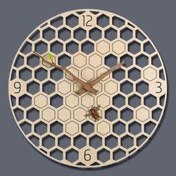 꿀벌이 포인트인 유니크한 허비니 인테리어무소음 벽시계