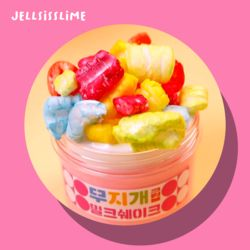 무지개밀크쉐이크 (글루올+생크림슬라임 믹스)