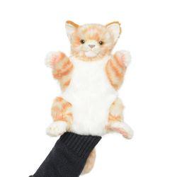 7182-갈색 고양이 퍼펫(손인형) 30cm.L