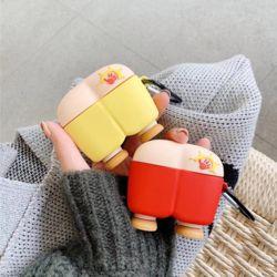 에어팟프로케이스 3세대 엉덩이 실리콘 고리 키링세트