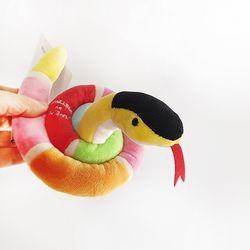 Love Pet Squeaky Snake pink핑크뱀 바스락삑삑