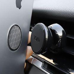 토드 블랙 자석거치대 송풍구형 차량용거치대 핸드폰