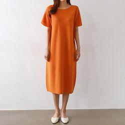 Maille Wool Bell Long Dress
