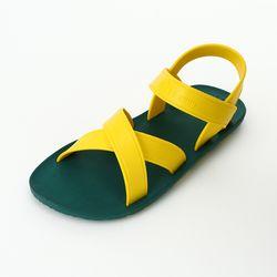 MC06 Cross Sandal Green-Yellow