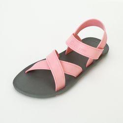 MC06 Cross Sandal Gray-Light pink