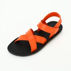 MC06 Cross Sandal Black-Orange