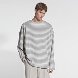 STRIPE POINT T-SHIRT GRAY