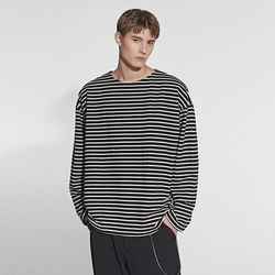 STRIPE POINT T-SHIRT BLACK