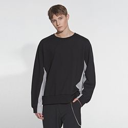 COLOR MIX SWEATSHIRT BLACK