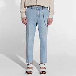 MILD WASHING DENIM PANTS LIGHT BLUE