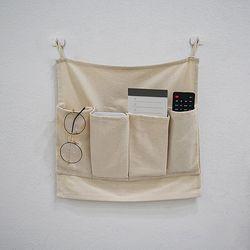 블랭크 광목 리모컨 수납걸이 . 다용도 정리함 (RM 278001)