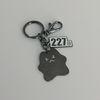 227 이이칠 COZY BEAR key ring : 01 [ Black Nickel ]