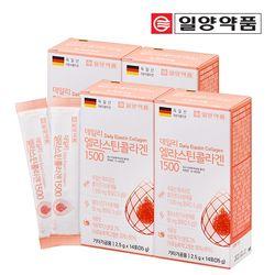 일양약품 엘라스틴 저분자 콜라겐 펩타이드 4박스 (56포)