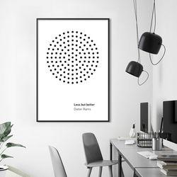 디터람스 인테리어 그림 A3 포스터+알루미늄액자