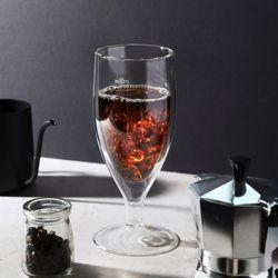 까사무띠 샴페인 이중유리컵