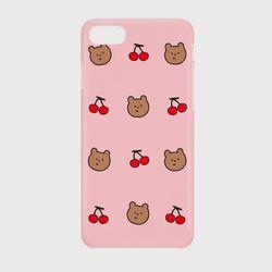 line cherry gummy pattern 하드케이스
