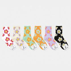 스마일 꽃 패션양말 6color