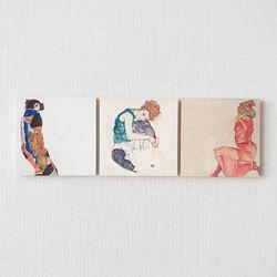 명화포토패널[명화뜨레스]앉아있는 여인 3종세트
