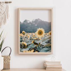 빈티지 해바라기 그림 A3 포스터+알루미늄액자