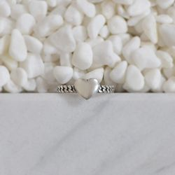 [SILVER925]HEART SILVER CHAIN RING