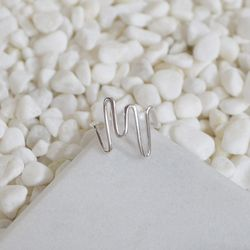 [SILVER925]WAVY LINE SILVER RING